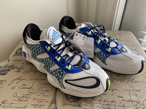 ADIDAS Originals FYW S-97 Crystal White/ Blue/ Hi-Res Yellow Size 10.5 & 11 (NO BOX) for Sale in Kansas City, KS