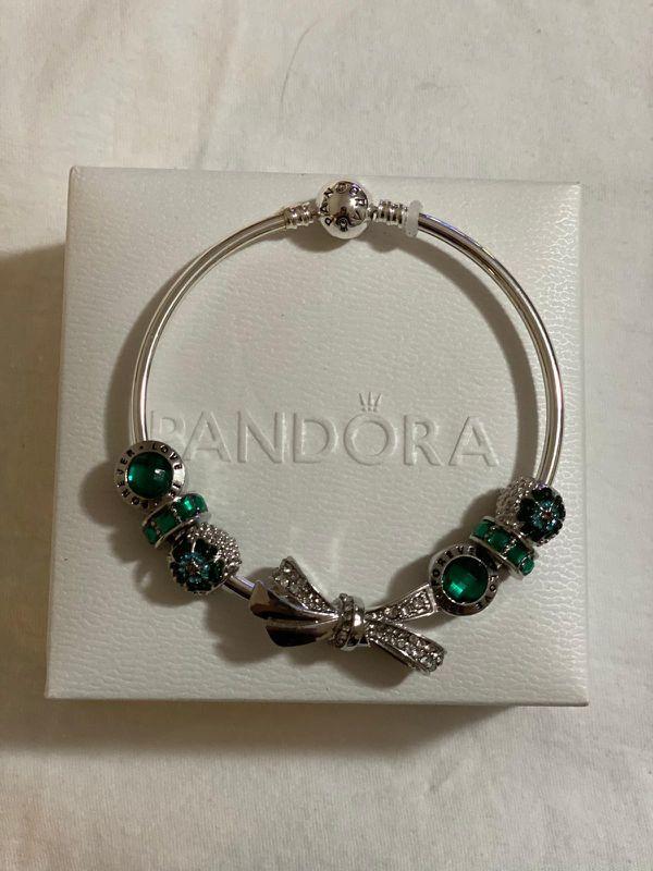 Pandora bracelet silver and gold