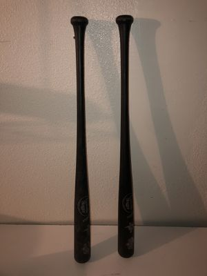 Black Pair of Plastic Kids Louisville Slugger Promotional Baseball Bats for Sale in Fresno, CA