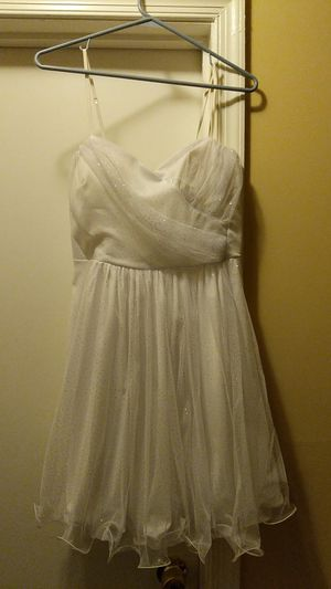 Forever USA White Sparkly Homecoming Prom Dress for Sale in Manassas, VA