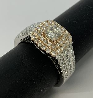 Brand new 18 karat solid white and rose gold diamond engagement ring SZ 6.5 for Sale in Boynton Beach, FL
