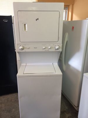 "27"" STACKUNIT WASHER DRYER LAUNDRY CENTER WORKS GREAT CLEAN WARRANTY DELIVERY for Sale in Washington, DC"