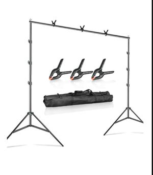 Backdrop Support System Stand W/ Clamps for Sale in Ontario, CA