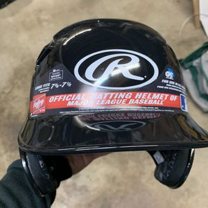Baseball Batting Helmet - Rawlings Official Batting Helmet Of The MLB - 7 3/8 - 7 1/2 - NOCSAE APPLICABLE - For Use In All Leagues - NEW - Price: $25 for Sale in Yorba Linda, CA