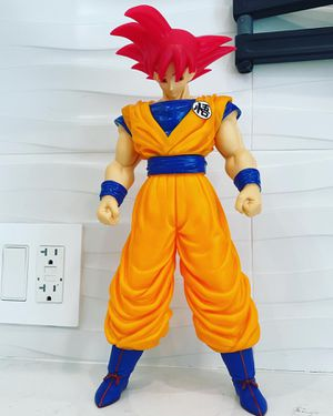 "GIANT 15"" RARE* SSJ GOD RED GOKU SUPER FIGURE DRAGON BALL Z (VERY TALL!) DBZ DBS for Sale in Miami Beach, FL"