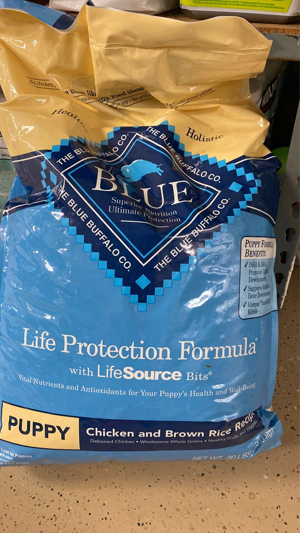 Blue Buffalo puppy chicken and brown rice 30 pound bag