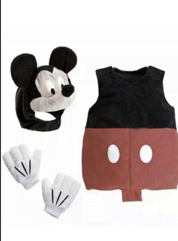 Disney Baby Boy Mickey Mouse Plush Costume Sz 12-18 months