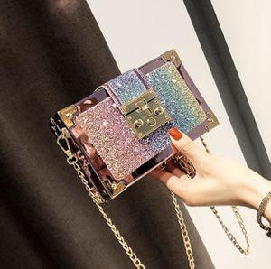 Luxury Gradient Color Sequin Box Clutch Bag for Sale in Tucker, GA