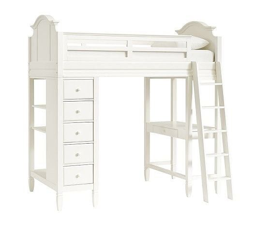 Twin Pottery Barn Kids Madeline Bunk System Loft Bed With