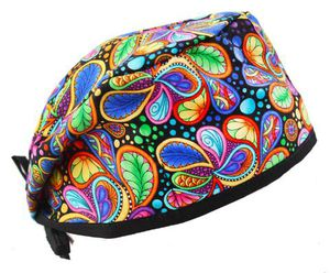 Colorful Swirl Paisley Scrub Cap Hat for Sale in Chandler, AZ