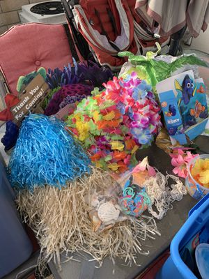 Luau party supplies for Sale in Anaheim, CA
