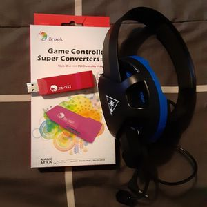 Brook game Converter And Turtle Beach Chat Headset for Sale in Largo, FL