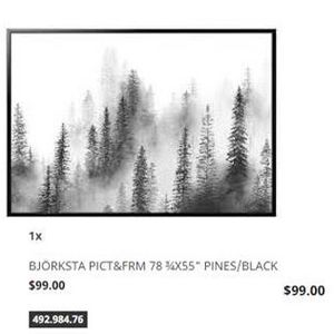 HUGE Pine's in Fog Picture for Sale in Seattle, WA