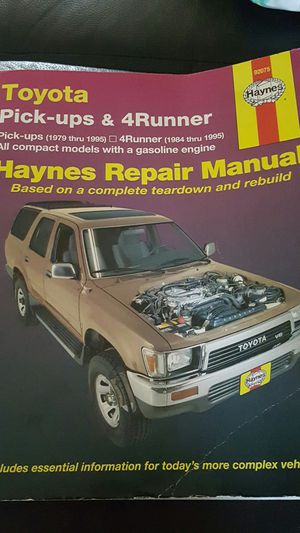 Toyota pick ups & 4 runner haynes repair manual for Sale in Compton, CA
