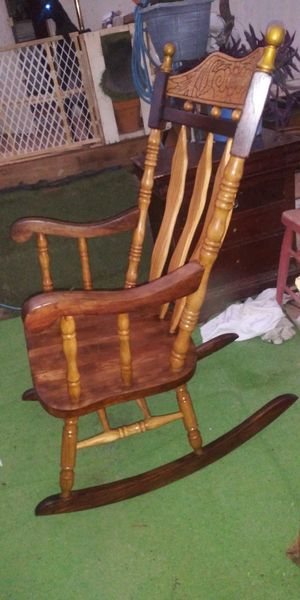Antique Solid Wood Rocking Chair for Sale in Tucson, AZ