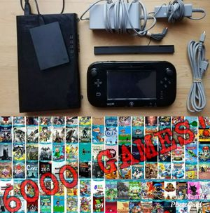 Nintendo Wii U 1TB Console Bundle With Over 6000 GAMES INSTALLED for Sale in New York, NY
