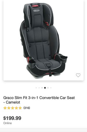 Graco slim fit 3 in 1 car seat -ALL INFO IN PHOTOS AND DESCRIPTION for Sale in Mesa, AZ
