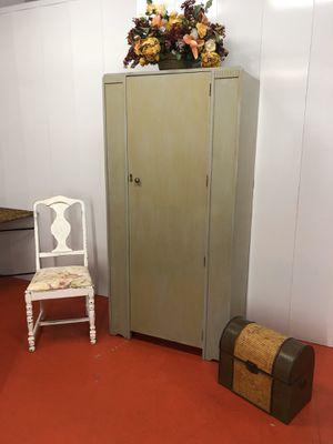 Tall Art Deco Wood Armoire Storage Cabinet for Sale in Boynton Beach, FL