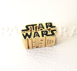 Pandora Disney Star Wars Shining 3D Logo Black Charm #769247C01 +Gift Box +Tag for Sale in Fontana, CA