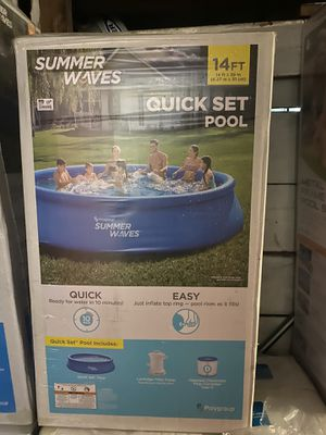 Summer Waves 10ft X 30in easy set up Pool w/ Filter Pump New Sealed for Sale in Garfield, NJ
