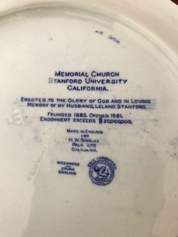 Stanford University Commemorative Plate