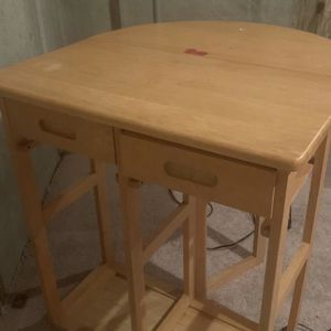 Kitchen Utility Table w/ 2 Bar Stools for Sale in Rockville, MD