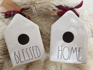 New Rae Dunn 2019 Christmas Birdhouses: HOME and BLESSED. FIRM for Sale in Port St. Lucie, FL