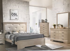 Brand new queen size bedroom set with mattress and box $699.financing available no credit check for Sale in Hialeah, FL