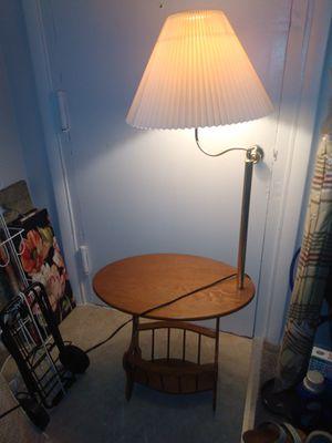 Wooden floor lamp for Sale in Alexandria, VA