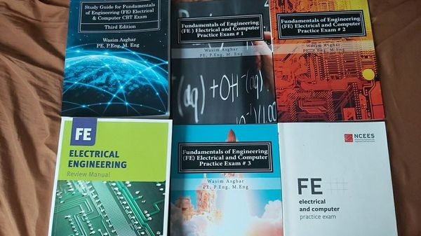 6 books for FE electric and computer exam