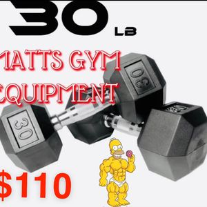 30 Lb Hex Rubberized Dumbbell Pair for Sale in Fort Lauderdale, FL