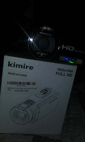 Digital Camera Camcorders Kimire HD Recorder 1080P 24 MP 16X Powerful Digital Zoom Video Camcorder 2.7 for Sale in West Palm Beach, FL