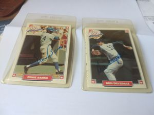 Two Autographed Baseball Cards for Sale in Phoenix, AZ