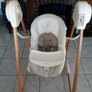 Eddie Bauer Classic Wood Baby Swing for Sale in North Bergen, NJ