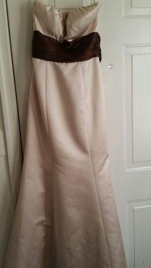 Champagne Dress w/chocolate sash for Sale in Fort Washington, MD