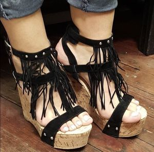 Fringe Wedge Sandals for Sale in Irwin, PA