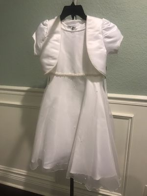 NEW Girls First Communion, Bridal Dress Sz 7 for Sale in San Antonio, TX