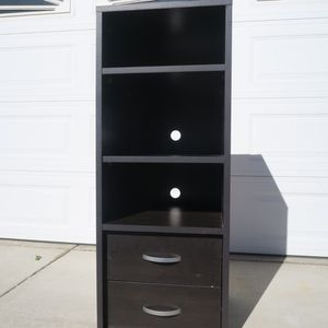 Shelving Unit Dark Wood Tall for Sale in Rancho Cucamonga, CA