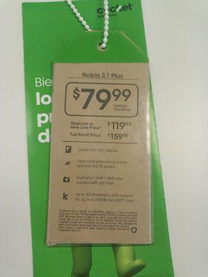 Nokia 3.1+ plus @ Cricket Wireless in Pace for Sale in Milton, FL