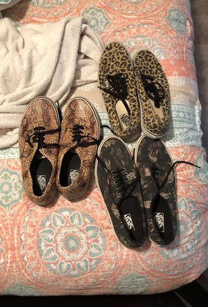 Snakeskin , Indian Print , Cheetah Print Vans. Each for $40 , All of together ill do $100 for Sale in Smyrna, GA