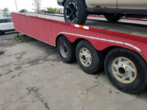 48 footer aluminum trailer fits 3 cars for Sale in Dearborn Heights, MI