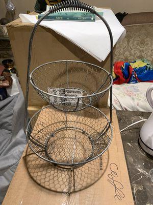 Metal fruit basket for Sale in Los Angeles, CA
