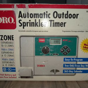 Toro Automatic Sprinkler Timer EC 53331 6 Zone *Box Has Some Ware* for Sale in Hillsboro, OR