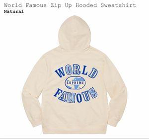 Supreme World Famous Zip Up Sweatshirt for Sale in Manassas Park, VA