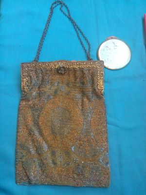 Antique / vintage art deco 1920s flapper purse with matching mirror for Sale in Lancaster, CA