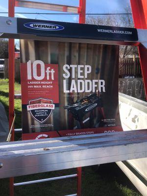 Step ladder fiberglass 10ft for Sale in San Antonio, TX