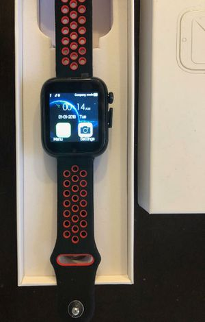 Bluetooth Android Smart watch black and red with heart rate sensor and camera for Sale in Phoenix, AZ