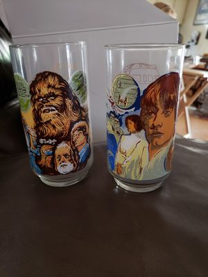 1977 star wars Burger King glass cups collection for Sale in Newcastle, CA