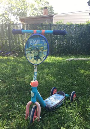 Paw Patrol toddler scooter for Sale in Glen Burnie, MD