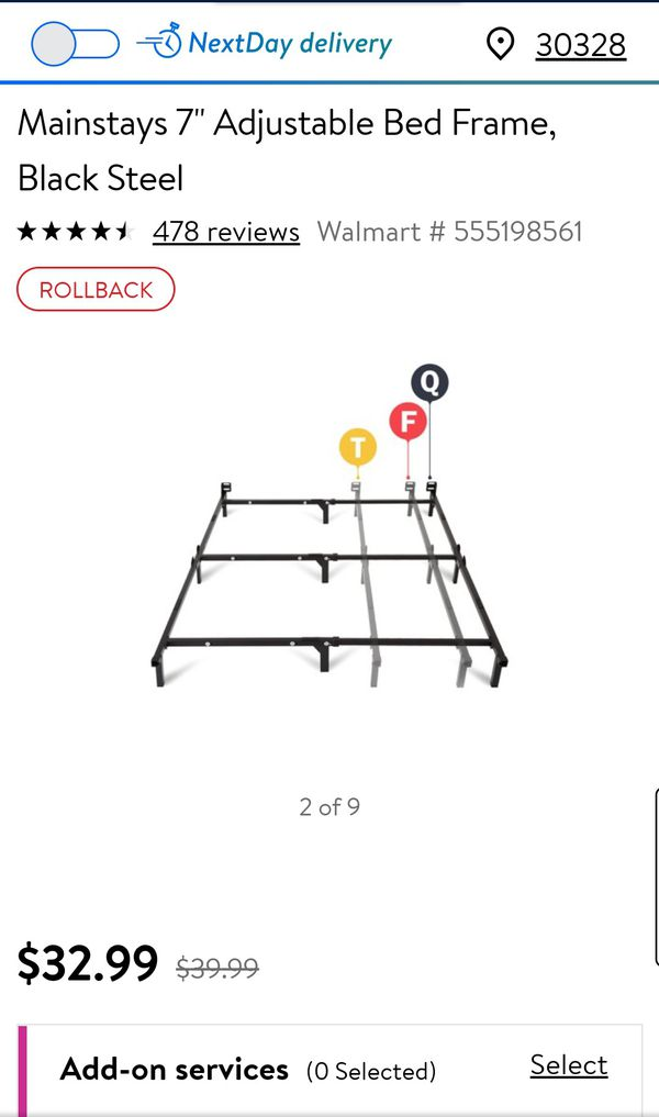 Bed frame for Queen, Full, Twin